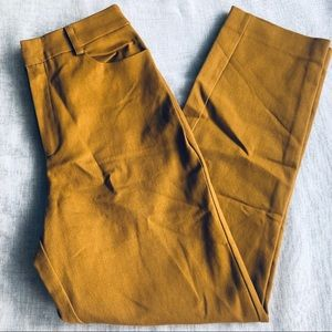 NWT Forever 21 Mustard Chino Dress Crops